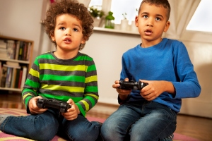Kids addicted to video games