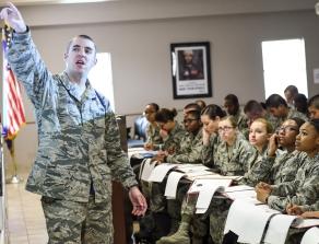 US Air Force briefing Airmen